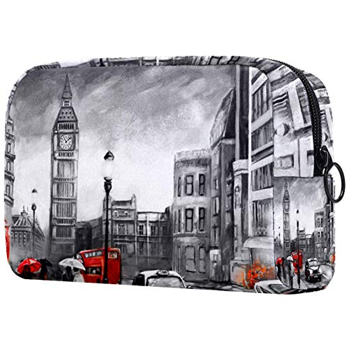 FURINKAZAN London Big Ben Bolsa de maquillaje de viaje para artículos de tocador, bolsa de maquillaje para hombres y mujeres