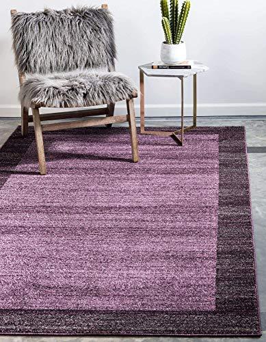 Unique Loom Del Mar Collection Contemporary Transitional Violet Area Rug (3' 3 x 5' 3)