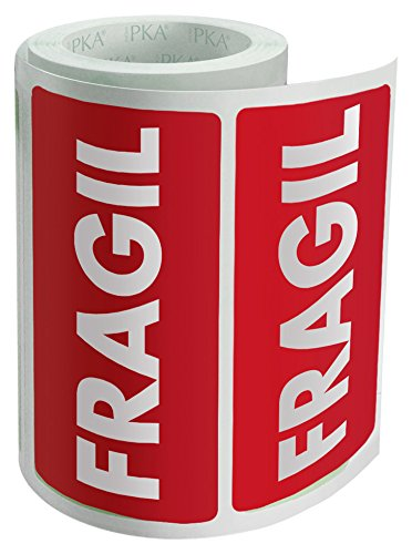 PKA 16411 - Rollo con 200 etiquetas'Frágil'