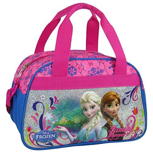 Ragusa-Trade Disney Frozen - Die Eiskönigin Anna und ELSA (11), Sporttasche Reisetasche für Mädchen, rosa/blau, 33 x 21 x 20 cm