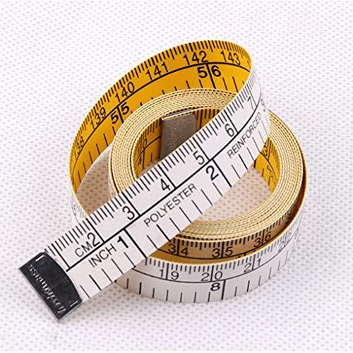 Wuqiong 1.5m Doble Escala Suave Cinta métrica Flexible Regla Peso Regla de Doble Escala Cuerpo Pérdida de Costura a Medida de Tela Regla