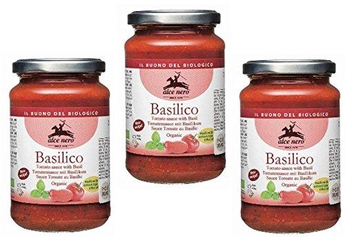 アルチェネロ 有機パスタソース・トマト&バジル   350g×3個