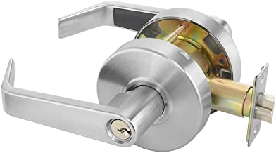 Yale Cylindrical Lever, Grade 2, 4605LN Storeroom, US26D Satin Chrome Plated, Schlage Keyway 6 Pin