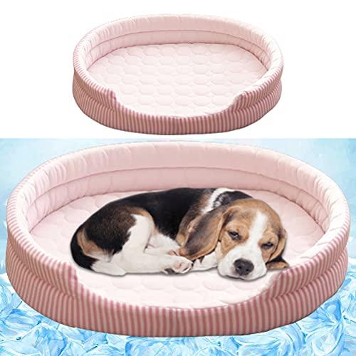 1 alfombrilla de refrigeración para perro, de seda de hielo, cama de verano, lavable, suave, para dormir, para perros, de seda, ideal para gatos, pequeños, medianos y grandes