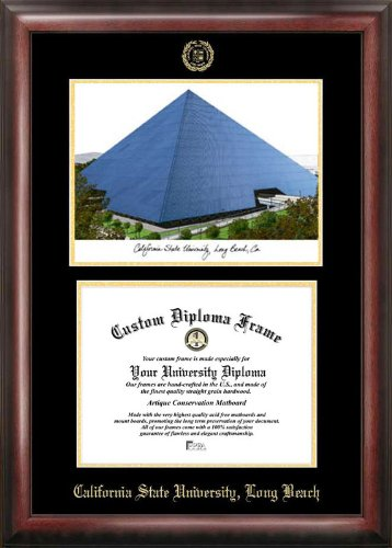 Campus Images Cal State Long Beach Gold Embossed Diploma Frame Lithograph