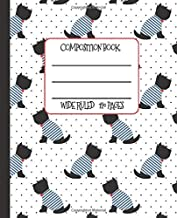 Wide Ruled Composition Book: Sweet Scotties in Bowties Themed Composition Notebook for school, work, or home!  Keep your notes organized and your ... Terriers! (Dog Lovers Composition Books)