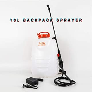 TBvechi Sprayer 16L Backpack Sprayer Pesticide Chemical Fertilizer 12-Volt Battery Lawn Weed