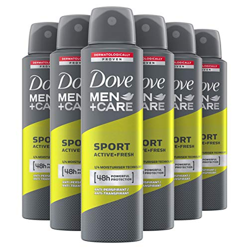 Dove Men+Care Sport Active+Fresh Anti-transpirant Spray 6 x 150 ml Voordeelverpakking