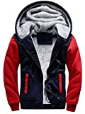 MANLUODANNI Men's Casual Hooed Hoodies Thick Wool...