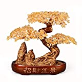 Ornamento de Escritorio Dinero árbol Bonsai Fengshui decoración de la gema for la riqueza y la suerte y prosperidad -Wealth-Home Office Decor espiritual regalo de cuarzo cristalino natural del árbol d