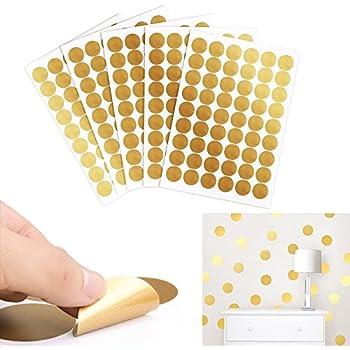 Chambre Des Enfants P/épini/ère Autocollants Amovibles Gris Ufengke/® 52-Pcs Points Ronde Cercles Stickers Muraux