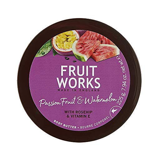 Fruit Works Passionfruit & Watermelon Cruelty Free & Vegan Body Butter With Natural Extracts 1x 225g