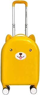 "XLHJFDI Cute Trolley Case, Trolley Case,Lightweight Trolley Case,ABS + PC Trolley Case,Silent Universal Wheel Suitcase,18"" Inches (Color : Yellow)"