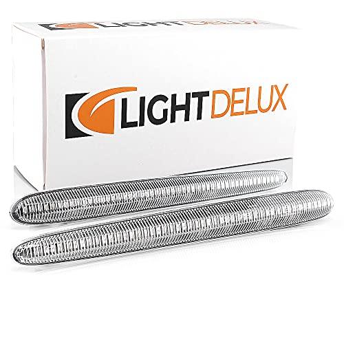 LIGHTDELUX Repuesto para intermitentes laterales LED, intermitente dinámico, compatible con ALFA ROMEO GIULIETTA (940_) V-174211LG