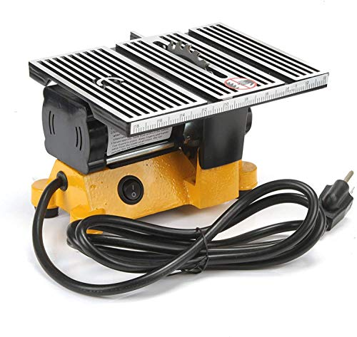 Apstour 4' Mini Portable Table Saw Portable Worksite Table Saw for DIY Handmade Wooden Model Crafts, Metal, Ceramic Tile, Glass Cutting