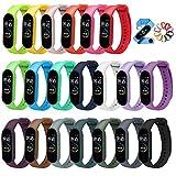 🏊♀️[20 colori] - Il cinturino di ricambio Mi Band 5 rende il tuo braccialetto più elegante e può migliorare il tuo temperamento in ogni occasione! Colori diversi, stati d'animo diversi. Rendi la tua vita colorata come questi bellissimi colori! 🧗♀️[...