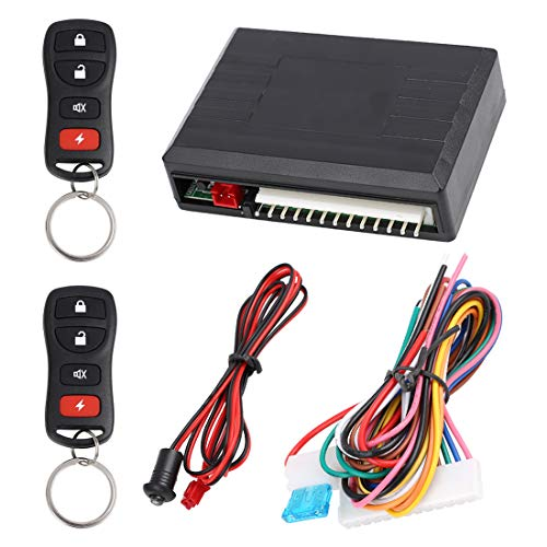 X AUTOHAUX Universal Car Keyless Entry System Door Lock Locking Remote Central Kit DC 12V LB405