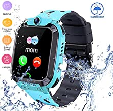 Waterproof Kids Smart Watch GPS Tracker - Boys Girls Smartwatches with SOS Camera Alarm Call Camera Alarm 1.44'' Touch Screen SOS Electronic Toy Birthday