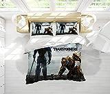 Transformers The Last Knight - Juego de ropa de cama de 3 piezas con cierre de cremallera, suave y transpirable, Microfibra, Patrón_09, Queen(90'x90')