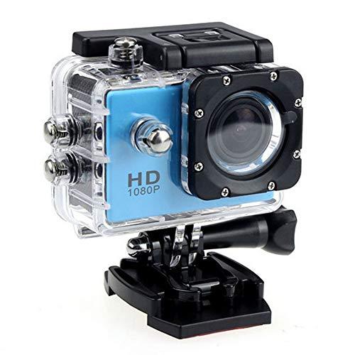 XLNB Cámara Digital a Prueba De Agua De Alta Definición 1080p, Lente Gran Angular con Sensor De Fotografía Profesional Adecuada para Montañismo Y Buceo Al Aire Libre,Azul