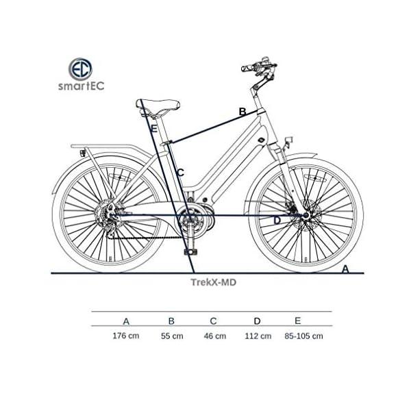 51Z91EbFD L. SS600  - smartEC TrekX-MD Trekking Pedelec E-Bike 26 Zoll Elektrofahrrad, leistungsstarker Mittelmotor mit Samsung Li-Akku 14AH, 7 Gänge, max. Fahrunterstützung bis 25 km/h