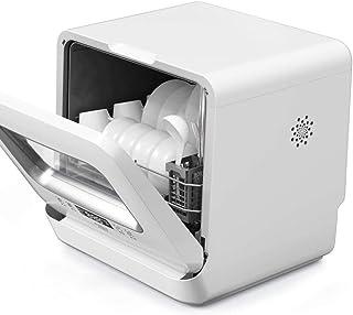 DWLXSH Completa portátil encimera Lavavajillas con 5 litros Incorporado en el Tanque de Agua, 5 programas, 220V, rápida Limpieza, energía eficiente y respetuosa del Medio Ambiente, seco Vajilla, 780W