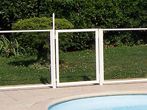 Chalet et jardin 24MODULEPORTILLON Barrière de Protection pour Piscine Portillon Transparent 90 x 117 cm