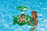 Poolmaster 81555 Learn-to-Swim Swimming Pool Float Baby Rider with Sun Protection, Frog,Green