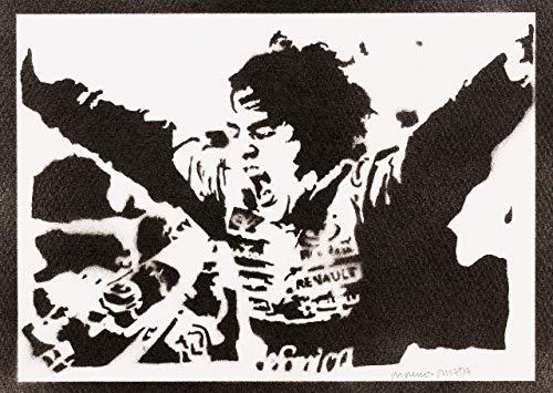 F1 Fernando Alonso Poster Plakat Handmade Graffiti Street Art - Artwork