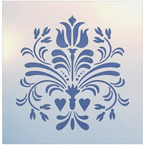 Rosemaling Pattern 14 Stencil - The Artful Stencil