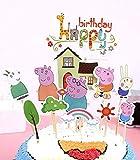 Cake & Sweet Peppa Pig - Decoración para Tarta (12 Piezas), diseño de Cerdito