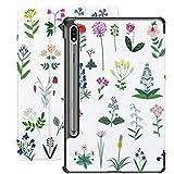 Funda para Galaxy Tab S7 Funda Delgada y Liviana con Soporte para Tableta Samsung Galaxy Tab S7 de 11 Pulgadas Sm-t870 Sm-t875 Sm-t878 2020 Release, Set de vectores de Flores Silvestres Decorativas