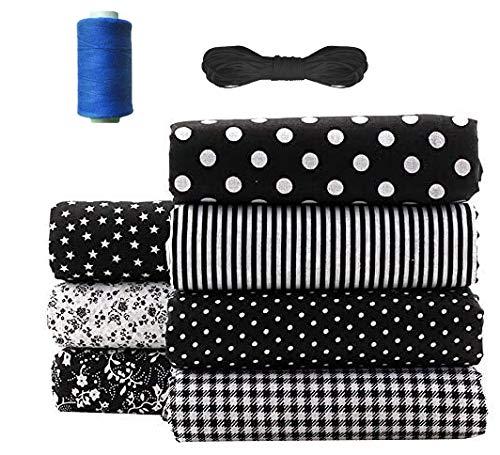 Stoffe per Cucito Creativo al Metro,Tessuti Stampati,Tessuto di Cotone per Cucito,Tessuto Cotone Stoffa Patchwork,Materiale da Cucito (A)