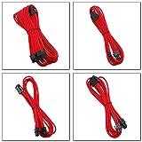 EZDIY-FAB 24 Pin/8pin (4+4) M/B, 8pin (6+2) PCI-E Verlängerungskabel Kit 500mm Länge,Rot