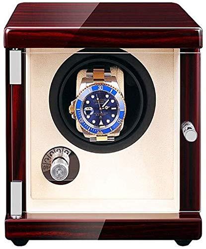 YUXO Cajas Giratorias 5 Modos De Rotación Relojes Caja De Presentación De Almacenamiento USB Winder De Reloj Único Automático 2 Métodos De Suministro De Energía 1116