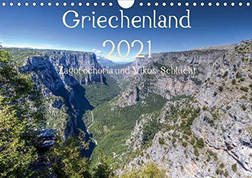 Griechenland 2021 - Zagorochoria und Vikos-Schlucht (Wandkalender 2021 DIN A4 quer)