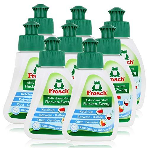 8x Frosch Aktiv-Sauerstoff Fleck-Entferner 75 ml - Flecklösend mit Aktiv-Sauerstoff