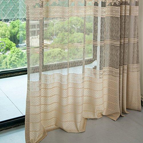 Met Love Classique Chinois Style Quandi Warp Jacquard Tissage Rideau Salon Chambre Studio Dédié Balcon Baie Fenêtre 2 Panneaux (taille : L:2.0*H:2.7m)