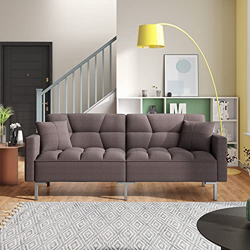 Sleeper Sofa Convertible Futon Sofa Bed Sleeper Sofa Bed Couch Adjustable Futon Couches Sofas Bed for Living Room Fold Up and Down Recliner Couch