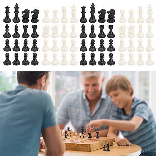 Xndz Piezas de ajedrez magnéticas, plástico, Divertido, sin Tablero de ajedrez Incluido, portátil, 2 Juegos de ajedrez de Palabras internacionales, para Fiestas, Adultos, niños, Acampar al Aire
