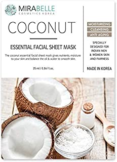 MIRABELLE KOREA COCONUT ESSENTIAL FACIAL SHEET MASK (A PACK OF 5)