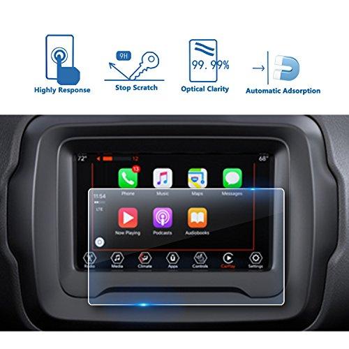 LFOTPP Jeep Renegade 7 Pollici Navigazione Pellicola Protettiva in Vetro Temperato Screen Protector Film - 9H Antigraffio HD Alta Trasparente Glass