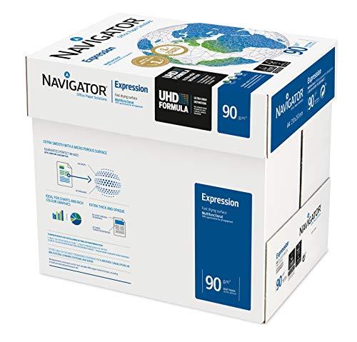 Navigator Expression – Paquete de folios de papel para impresora/fotocopiadora 90g/m² A4, color blanco