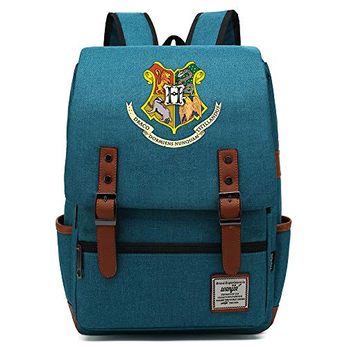 Harry P Hogwarts Insignia Backpack, Outdoor Oxford College School Backpack, Fits 15'' Laptop, Water Resistent 14 inch. Color-20.