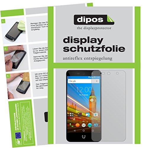 dipos I 2X Schutzfolie matt kompatibel mit Wileyfox Swift 2X Folie Bildschirmschutzfolie