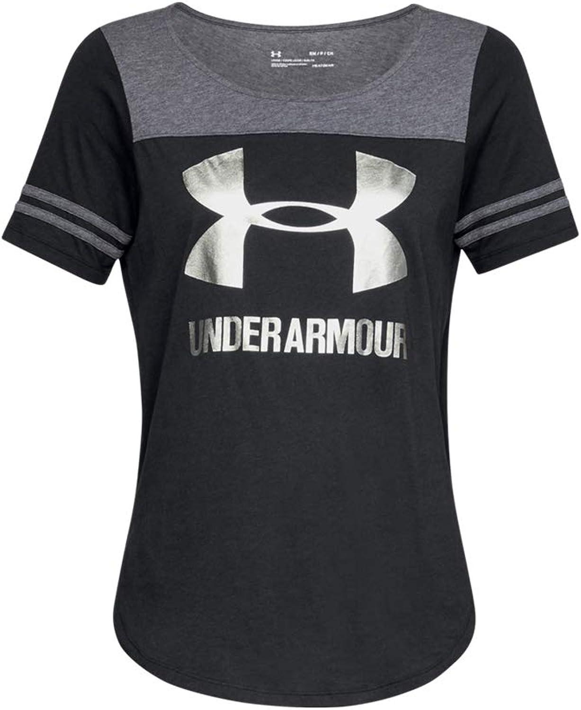 Fees free!! Under Armour Womens Max 65% OFF Sportstyle Logo Medium Tee Black Grey