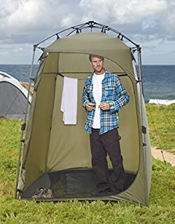Lightspeed Outdoors Xtra Wide Quick Set Up Privacy Tent, Toilet, Camp Shower, Portable Changing Room (Green)
