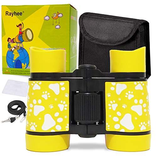 Rayhee Rubber 4x30mm Toy Binoculars for Kids - Bird Watching - Educational...
