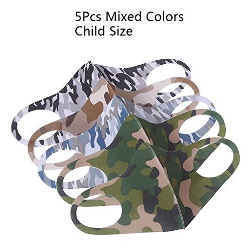 [ Abdeckung ] Gesicht Oder Mund, 5 Stk Kindergröße Gemischte Tarnfarbe Schwamm Anti Kälte Staubdicht Farbe Zufällig Für Kinder