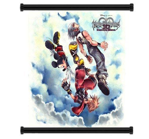 Kingdom Hearts 3D Dream Drop Distance Game Fabric Wall Scroll Poster (16